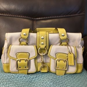 Coach Legacy leather and canvas satchel